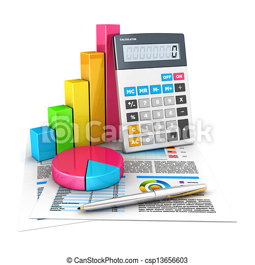 3d accounting concept - csp13656603