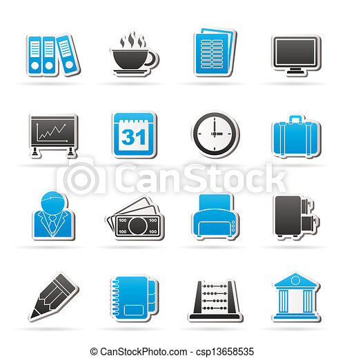 Business and office icons - csp13658535