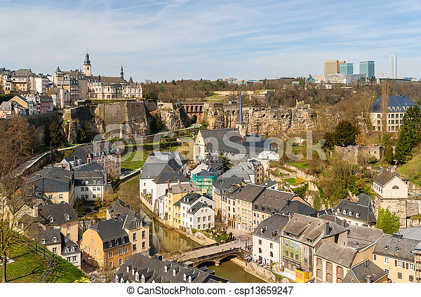 View of Luxembourg historic center - csp13659247