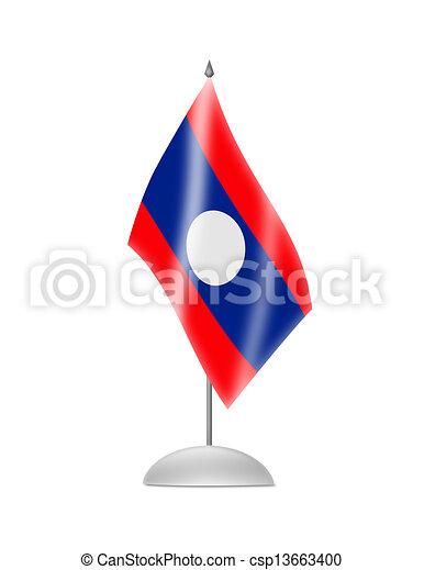 The Laotian flag - csp13663400