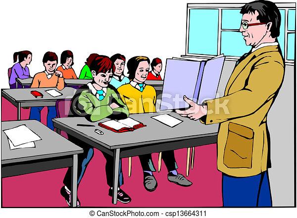 Schulklasse im unterricht clipart  Klassenzimmer Clipart | daredevz.com
