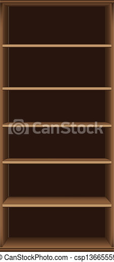 Clipart Vector of Office High Bookcase - Office bookcase six ...
