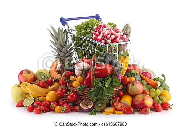 fruits and vegetables - csp13667980