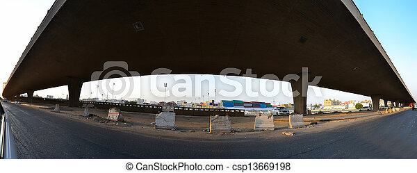 Bridges from Jeddah - csp13669198
