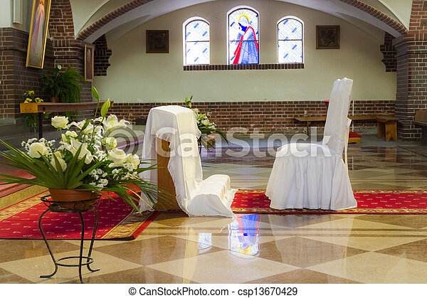 Church before a wedding ceremony - csp13670429