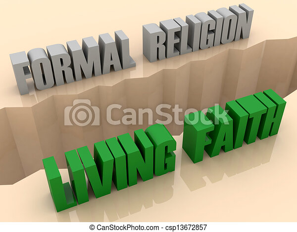 FORMAL RELIGION and LIVING FAITH - csp13672857