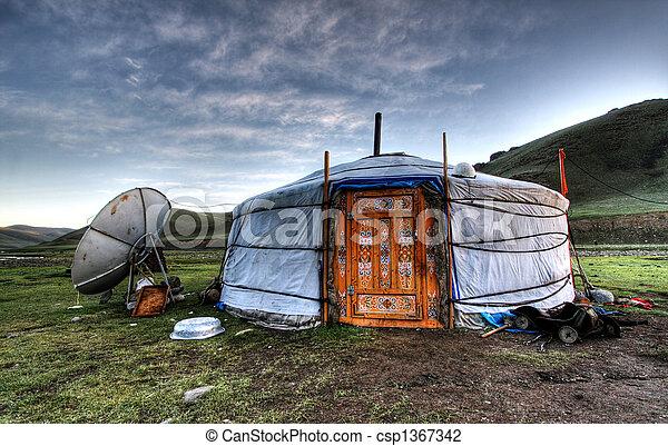 Mongolian dwelling - csp1367342