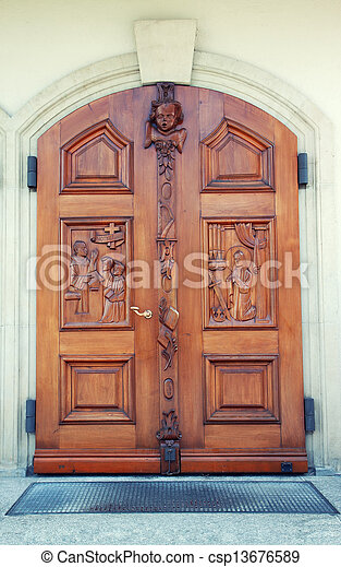 Front door to the Catholic Church