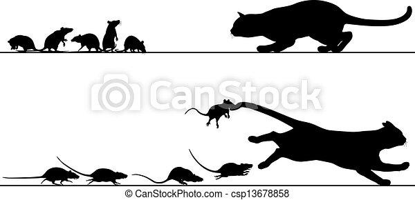 Dog Chasing A Cat Clip Art