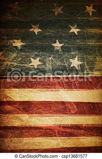 American flag background - csp13681577