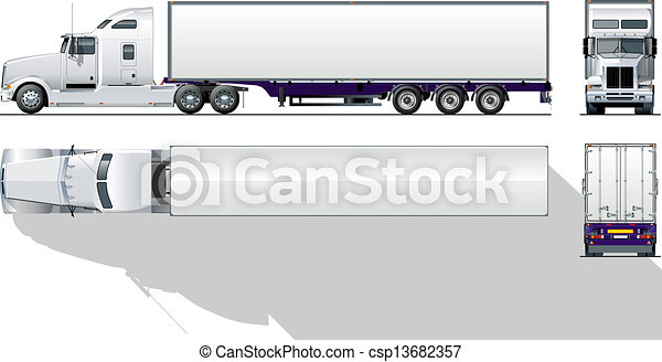 hi-detailed commercial semi-truck - csp13682357