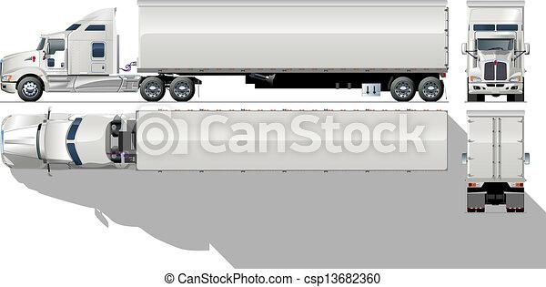 hi-detailed commercial semi-truck - csp13682360
