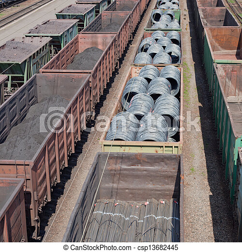 Freight trains - csp13682445
