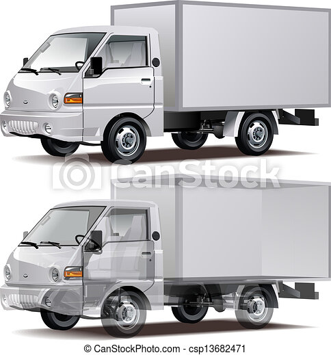 Vectors Illustration of Delivery / Cargo Truck ...
