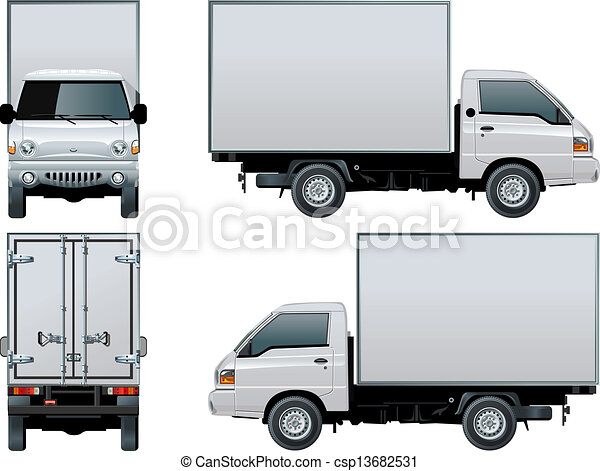 delivery / cargo truck - csp13682531
