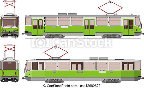 tram, stad - csp13682673