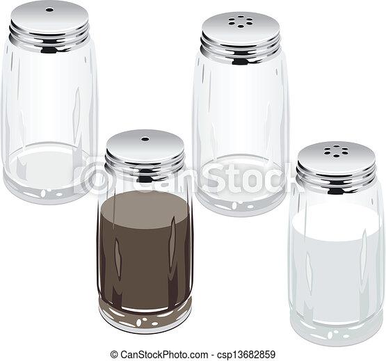 Clipart Vector Of Salt Pepper Shakers Vector Salt