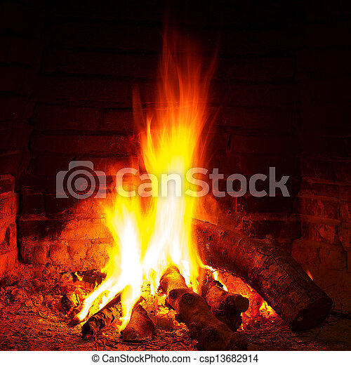 Stock Photography Of Cosy Warm Fireplace Csp13682914