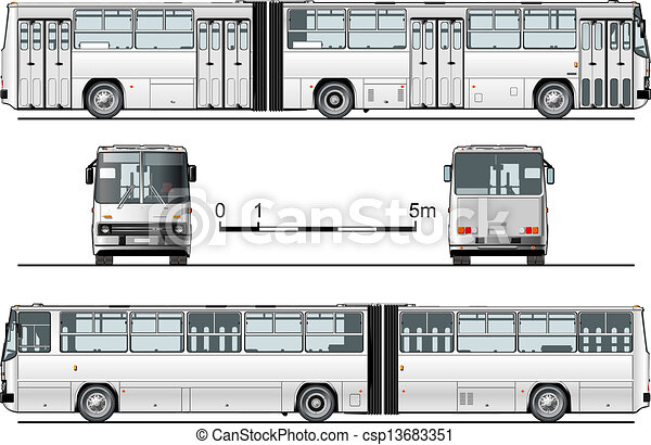 detailed urban bus - csp13683351