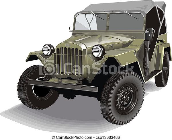 vektor von jeep retro armee retro armee jeep. Black Bedroom Furniture Sets. Home Design Ideas