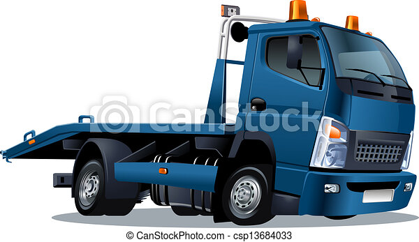 tow truck - stock illustration, royalty free illustrations, stock clip ...