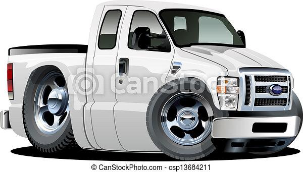 Cartoon Images of Pickup Trucks Vector Cartoon Pickup Vector