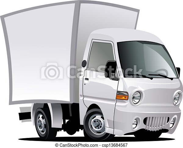Cartoon delivery / cargo truck - csp13684567