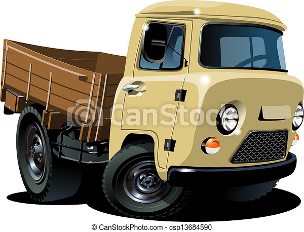 vecteur dessin anim livraison cargaison pick up banque d 39 illustrations illustrations. Black Bedroom Furniture Sets. Home Design Ideas