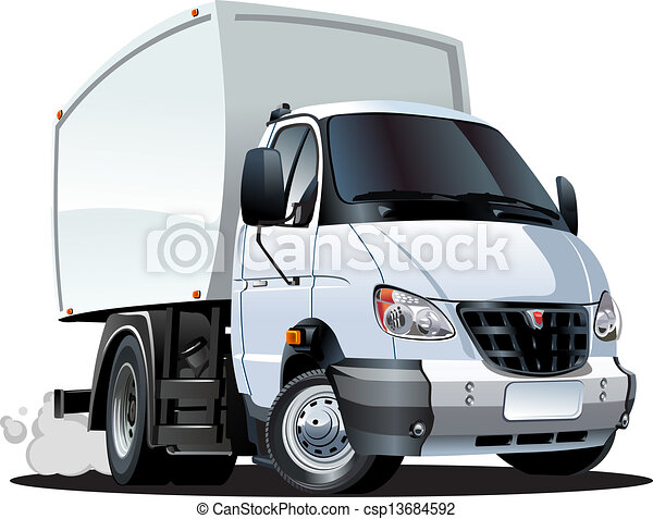 EPS Vectors of Cartoon delivery / cargo truck isolated on ...