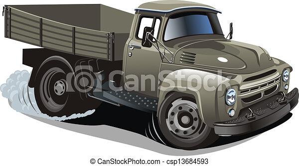 Cartoon delivery / cargo truck - csp13684593