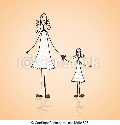 Mothers day illustration - csp13684825