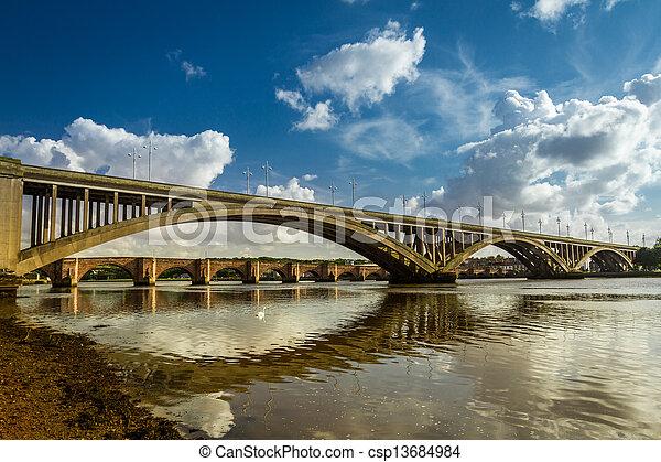Old nad new bridges in Berwick-upon-Tweed - csp13684984