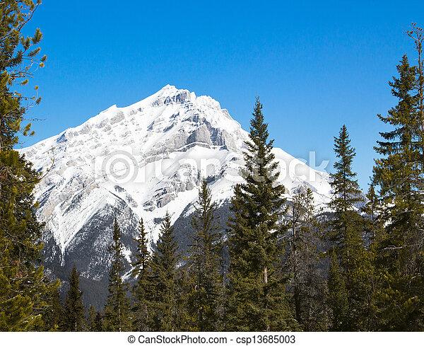 Cascade Mountain, Rockies, Canada - csp13685003