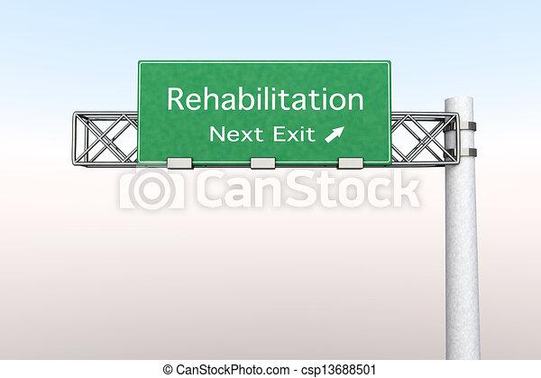 Highway Sign - Rehabilitation - csp13688501