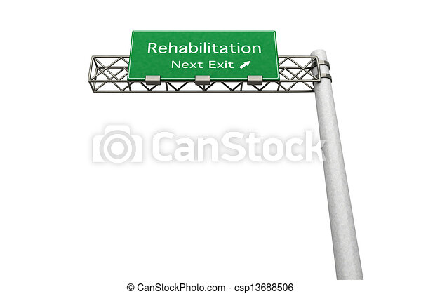Highway Sign - Rehabilitation - csp13688506