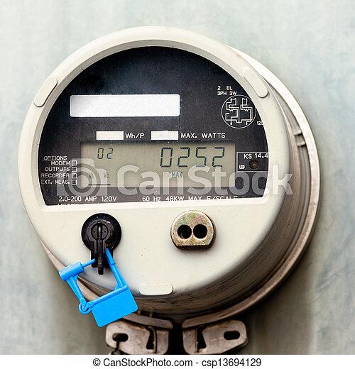 Smart grid residential digital power supply meter - csp13694129