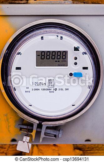 Smart grid residential digital power supply meter - csp13694131