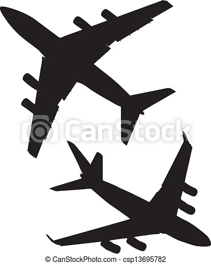 Jet, avions ligne - banque d'illustrations, illustrations libres de