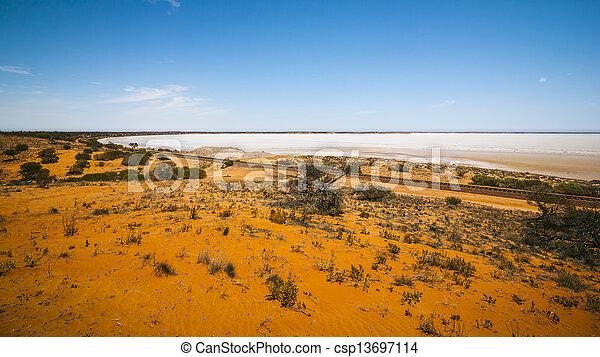 dry lake Australia - csp13697114