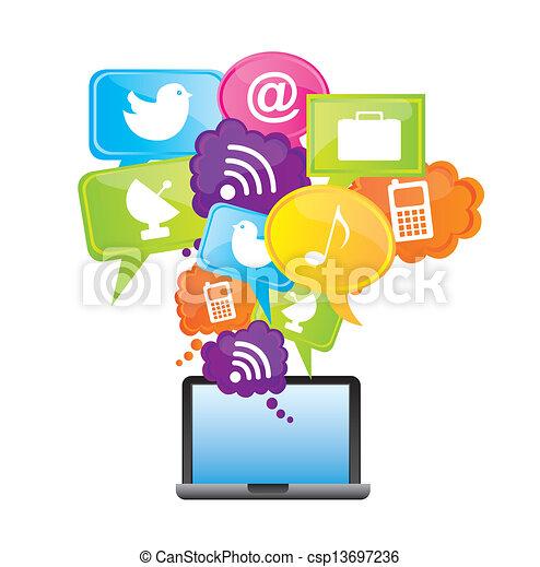 vektoren von app kaufmannsladen heiligenbilder laptop aus wei es csp13697236 suchen. Black Bedroom Furniture Sets. Home Design Ideas