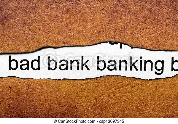 Bad banking - csp13697345