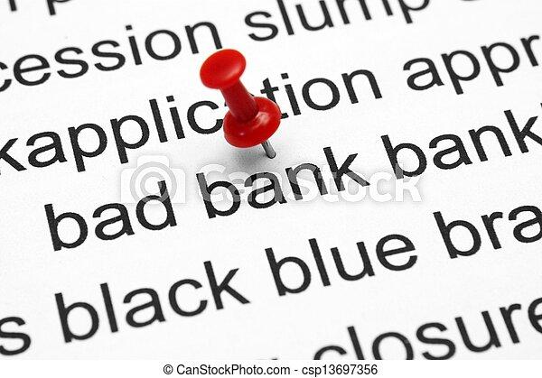 Bad banking concept - csp13697356