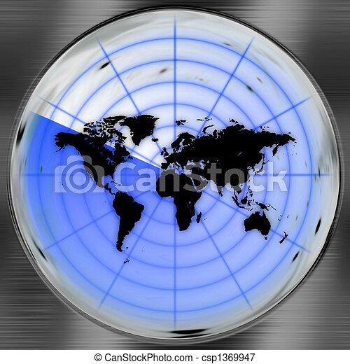 World Radar Screen - csp1369947