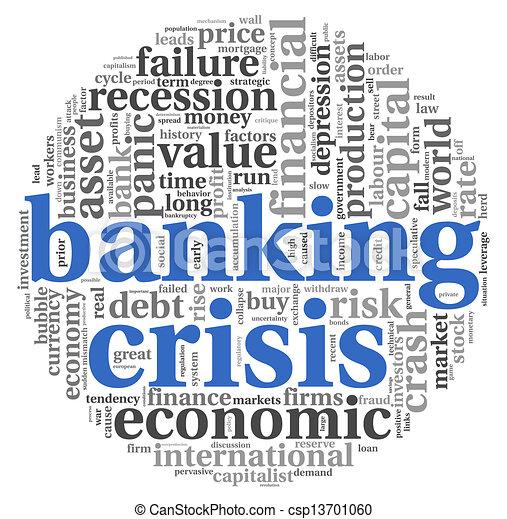 Banking crisis concept on white - csp13701060