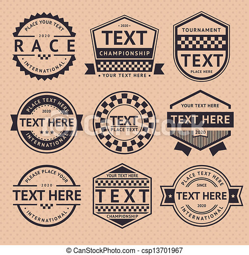 Racing insignia, vintage style - csp13701967