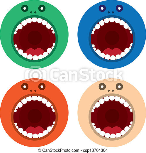 Monster Mouth Drawing Monster Mouth Round Colors