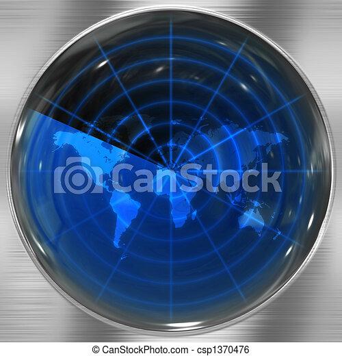 Blue World Radar - csp1370476