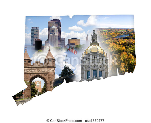 Connecticut Collage - csp1370477