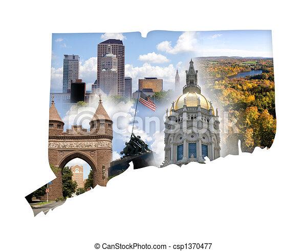 Connecticut Collage - csp1370477