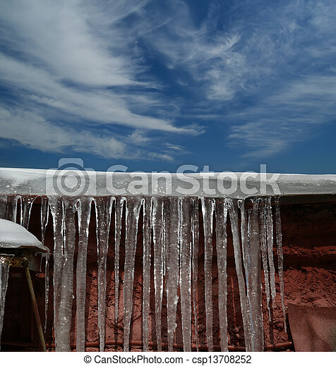 Stock Images of Photo of icicles. Natural light in a sunny ...